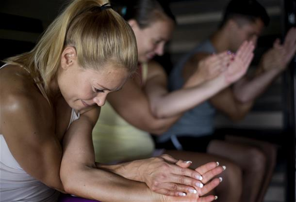 Private saunayoga class and Finnish sauna
